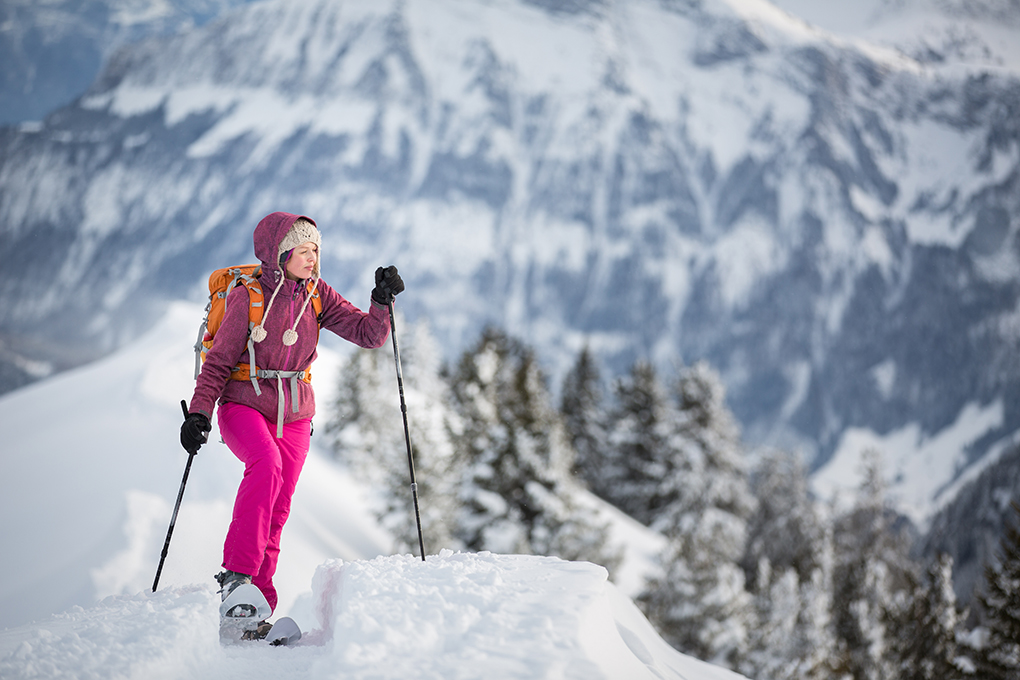 Woman Skiing in Jackson Hole