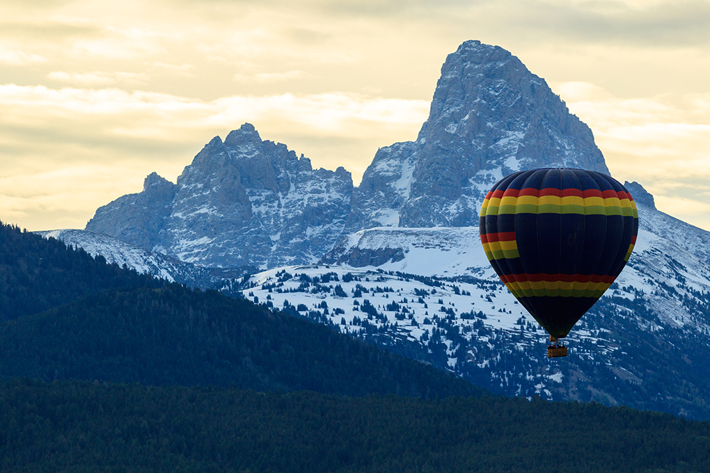 Hot Air Balloon in Jackson Hole