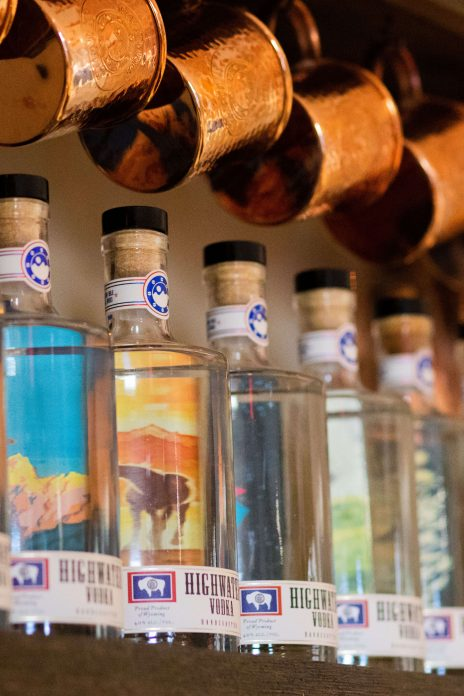 Jackson Hole Still Works vodka and gin liquor bottles