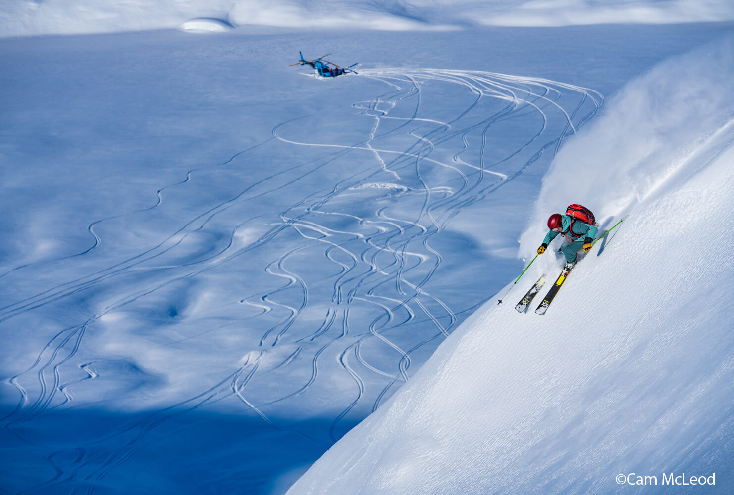 Man Skiing in Jackson Hole