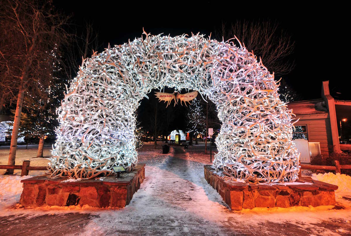 Jackson hole Christmas Light show