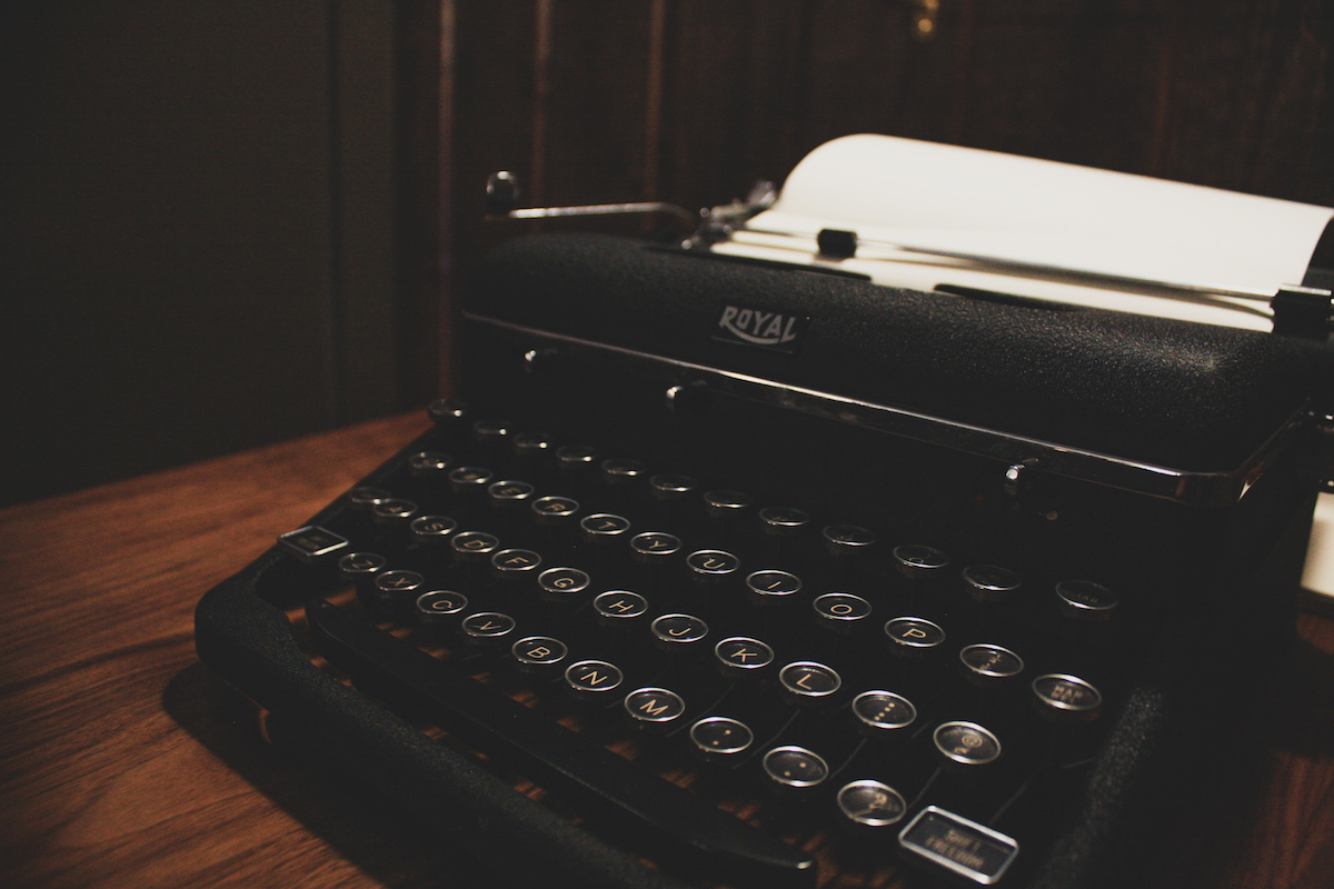 Typewriter at Anvil Hotel