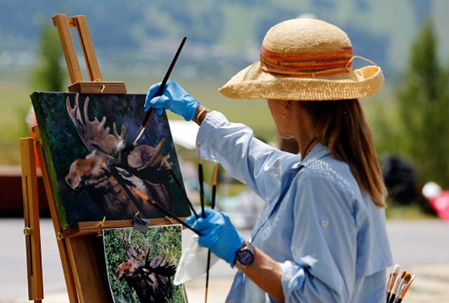 Woman Painting at the Plein Air Fest