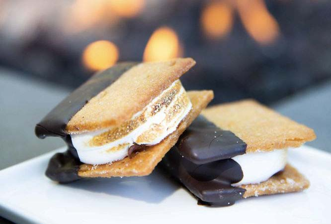 S'mores Dipped in Chocolate at Anvil