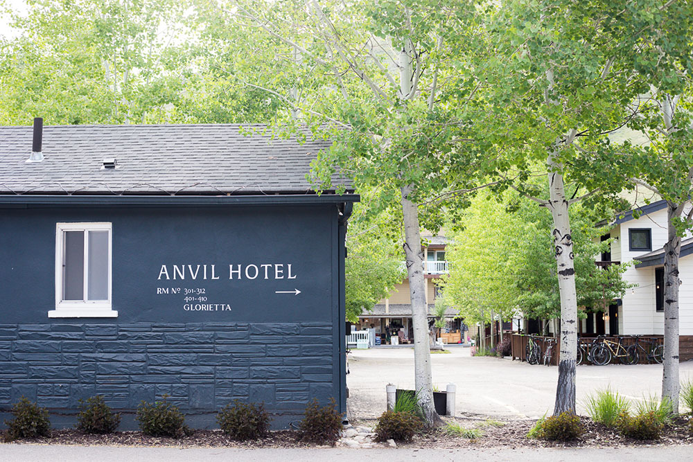 Side view of Anvil Hotel building