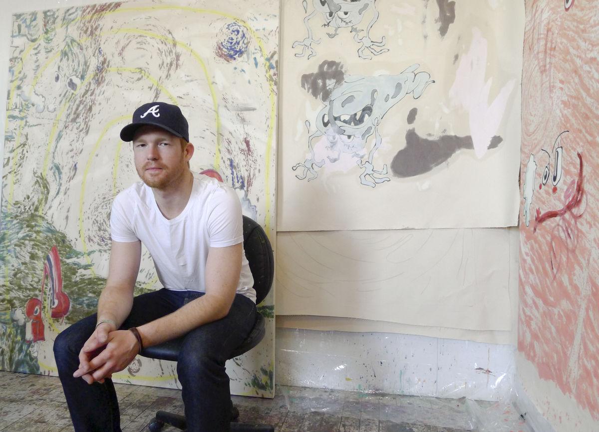 Painter Chris Hood of New York City